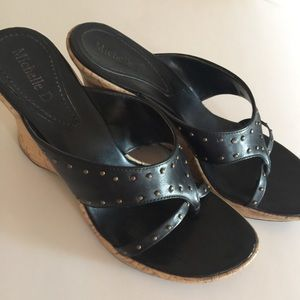 Michelle D Wedge Sandal with Brass Size 8.5
